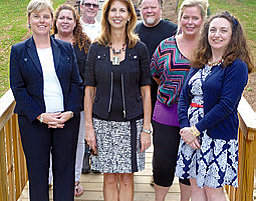 Sandy Woltering, Vice President/Committee Chair, Memberships & Marketing; Amy Phillips, Secretary; Tom Bills, Cobb County Parks Representative; Jodie Braner, President; David London, Committee Chair, Donations; Cathy Ford, Committee Chair, Events; Teresa Corso, Treasurer
