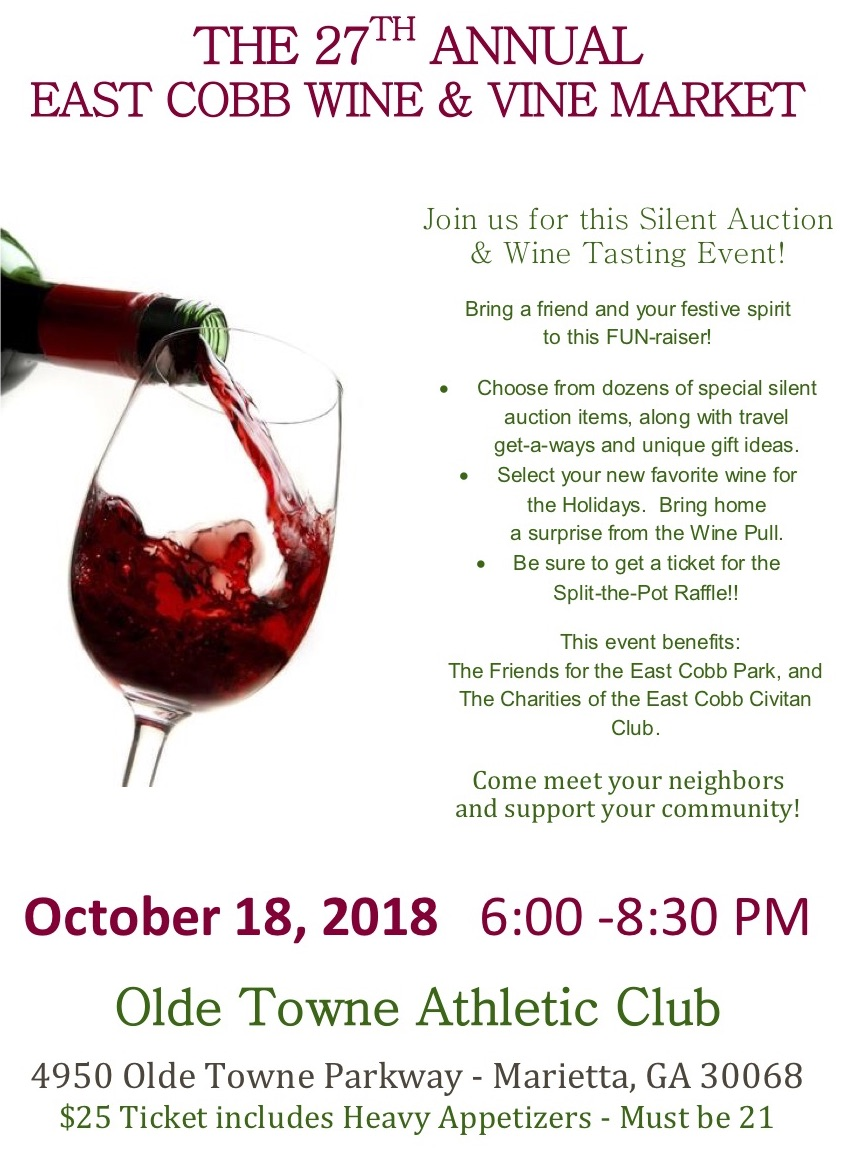 27th Annual East Cobb Wine & Vine Market – Friends for the East Cobb ...